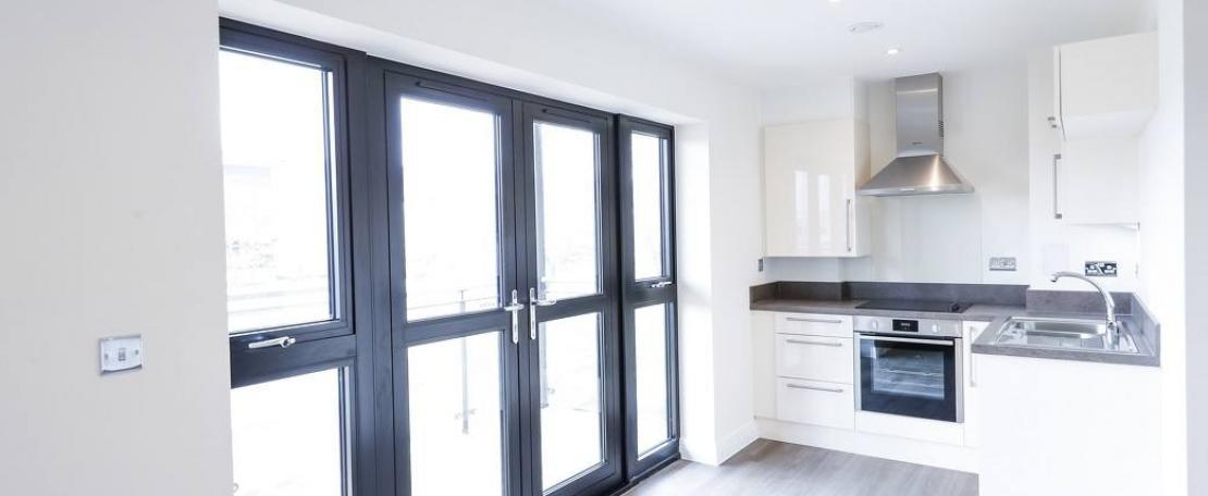 Studio apartment kitchen
