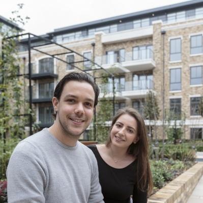 Eduardo and Pamela, Happy homeowners, Chiswick